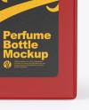 Glossy Square Perfume Bottle Mockup