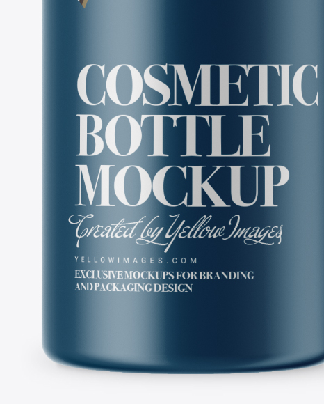Matte Cosmetic Bottle with Pump Mockup