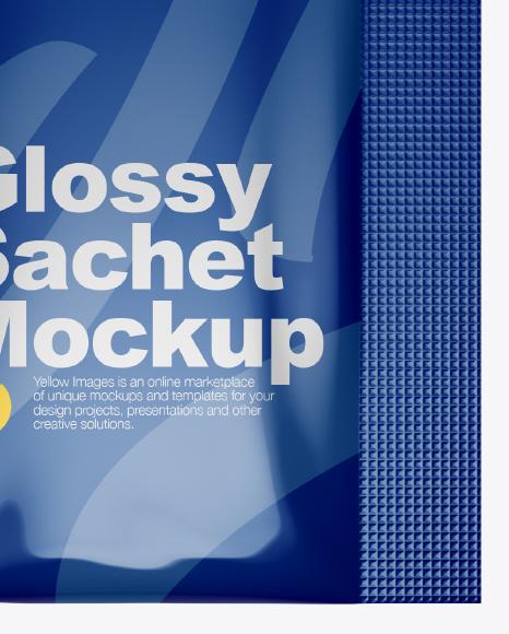 Glossy Sachet Mockup - Top View