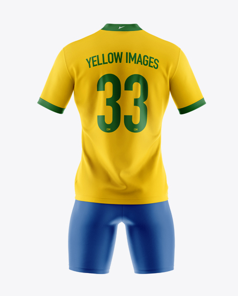 Download Lace Up Soccer T Shirt Mockup Front View Yellow Images