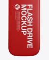 Matte USB Flash Drive Mockup - Top View