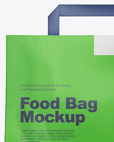 Matte Food Bag Mockup - Front View