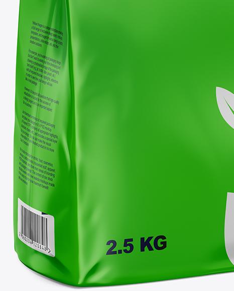Matte Food Bag Mockup - Half Side View