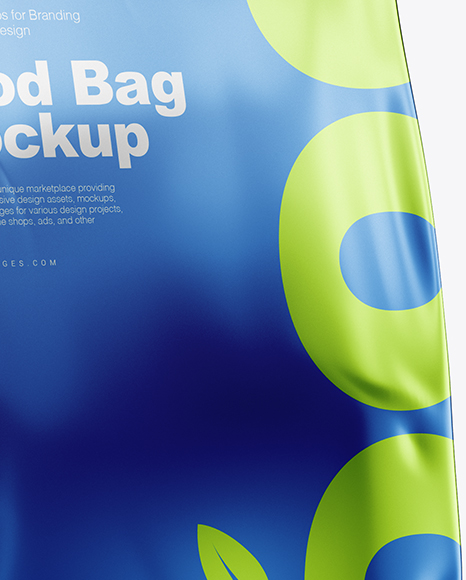 Metallic Food Bag Mockup - Half Side View
