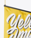 Glossy Banner Mockup - Half Side View