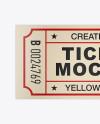 Matte Paper Ticket Mockup - Top View