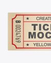 Textured Paper Ticket Mockup - Top View
