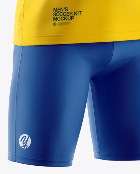Download Men S Full Soccer Kit Mockup Half Side View In Apparel Mockups On Yellow Images Object Mockups