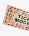 Two Textured Paper Tickets Mockup