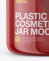 Glossy Plastic Cosmetic Jar Mockup