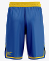 Men's Basketball Shorts Mockup - Back View