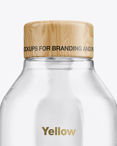 Glossy Bottle With Water Mockup