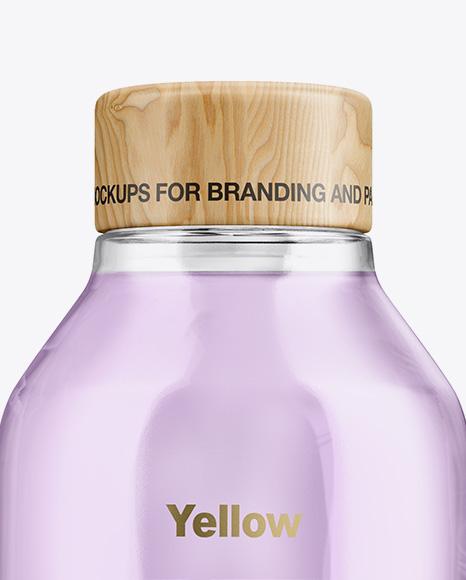 Matte Bottle With Liquid Mockup