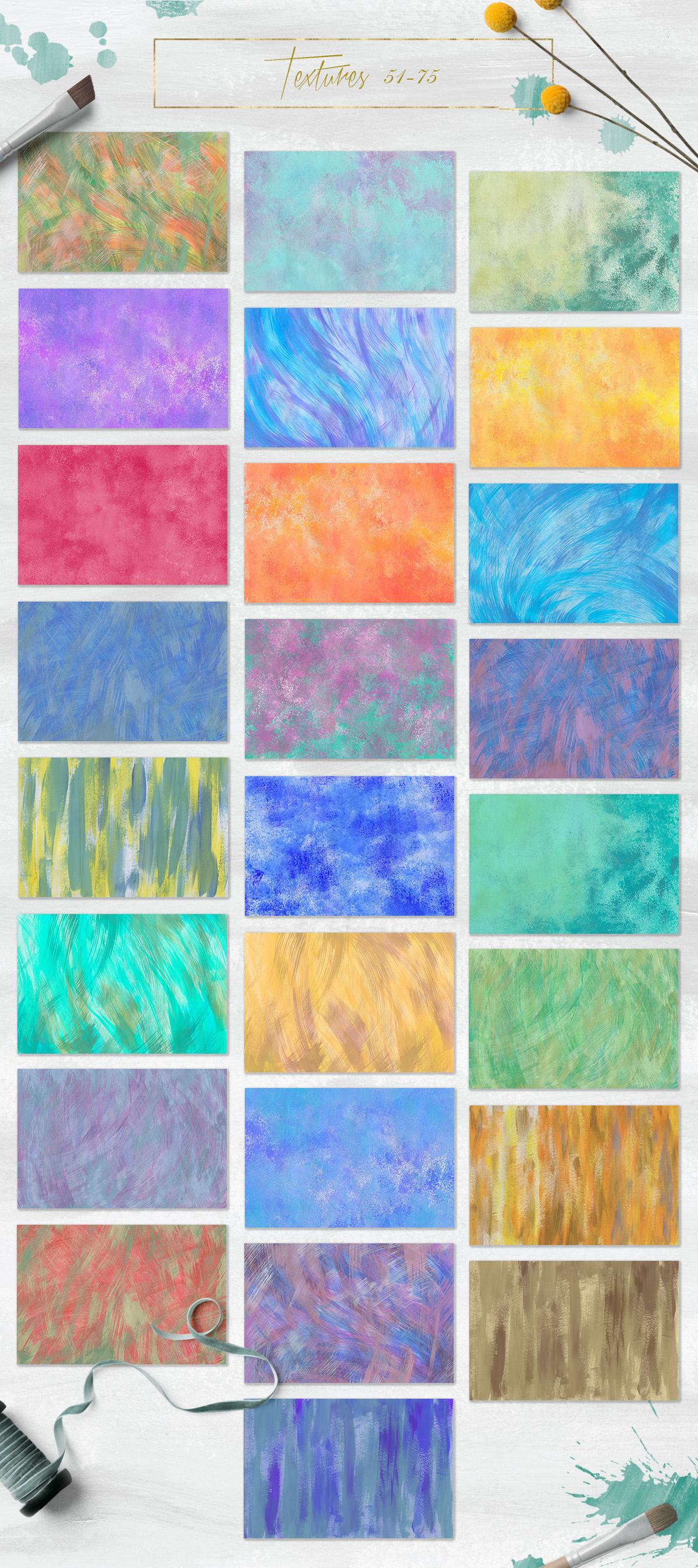 100 Bright Acrylic Textures