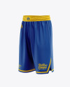 Men's Basketball Shorts Mockup - Front Half Side View