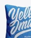 Pillow Mockup - Half Side View