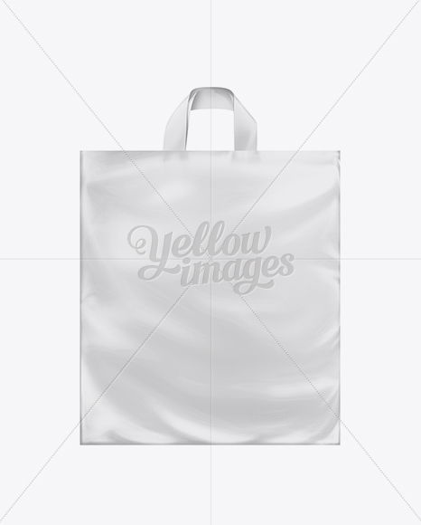 White Plastic Carrier Bag with Loop Handles
