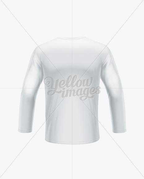 Men's Long Sleeve T-Shirt Back View