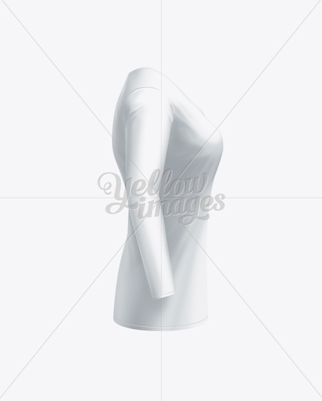 Women's Long Sleeve T-Shirt Side View