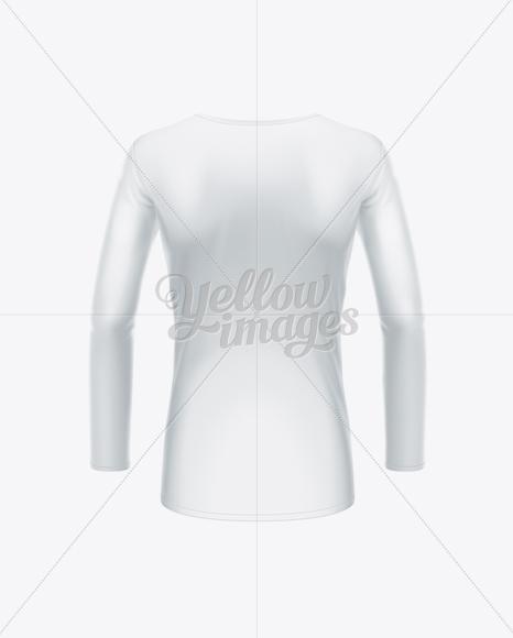 Women's Long Sleeve T-Shirt Back View