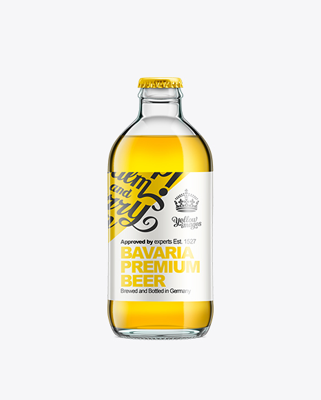 Glass Bottle With Gold Beer 250ml