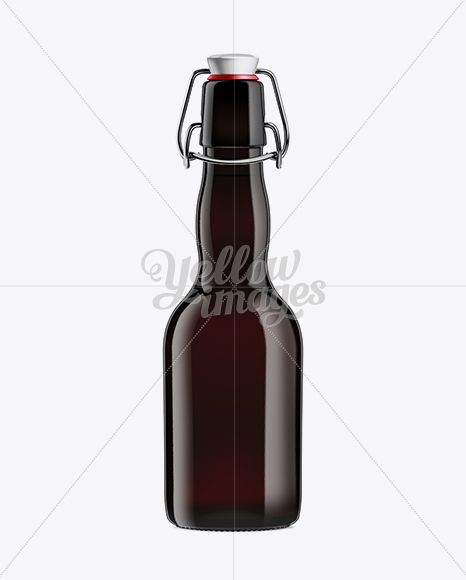 Black Amber Bottle with Swing Top Closure 330ml