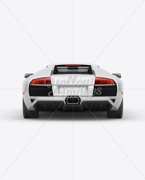 Lamborghini Murcielago Mockup Back View In Vehicle Mockups On Yellow