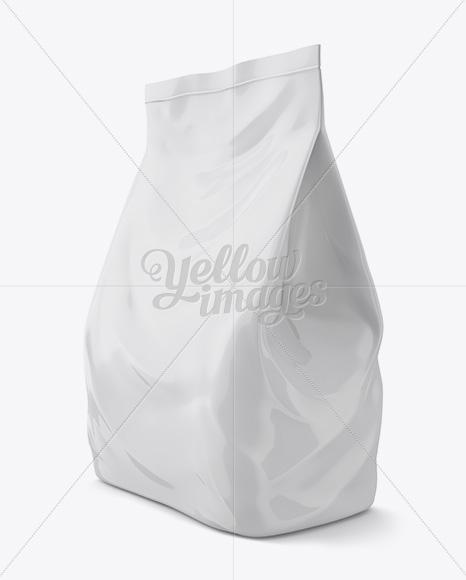 Plastic Soap Powder Bag Mockup - Halfside View