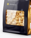 Paper Bag with Conchiglie Pasta Mockup - Half Side View