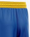 Men's Basketball Shorts Mockup - Back Half Side View