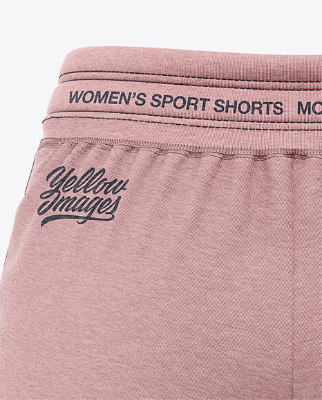 Women's Heather Sport Shorts Mockup - Back View
