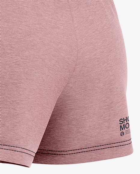 Women's Heather Sport Shorts Mockup - Back Half Side View