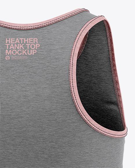 Women's Heather Racerback Tank Top Mockup - Back View