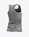 Women's Heather Racerback Tank Top Mockup - Back Half Side View