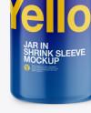 Metallic Jar In Shrink Sleeve Mockup - Front View