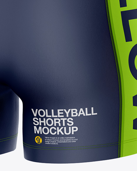 Women`s Volleyball Shorts Mockup - Back Half Side View