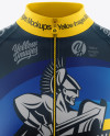 Women's Full-Zip Cycling Jersey Mockup - Front View