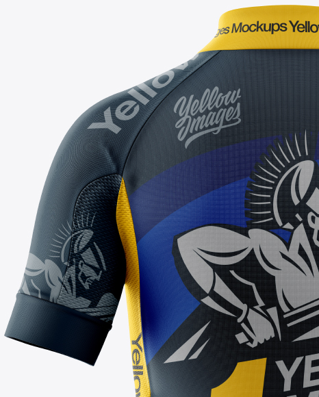 Women's Full-Zip Cycling Jersey Mockup - Back View