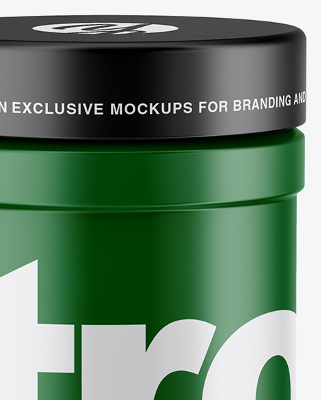 Matte Protein Jar Mockup - High-Angle Shot