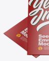 Two Matte Seed Envelopes Mockup