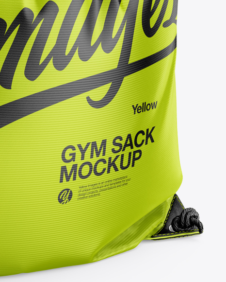 Download Gym Sack Mockup Front View Yellowimages