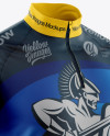 Men's Cycling Jersey Mockup - Half Side View