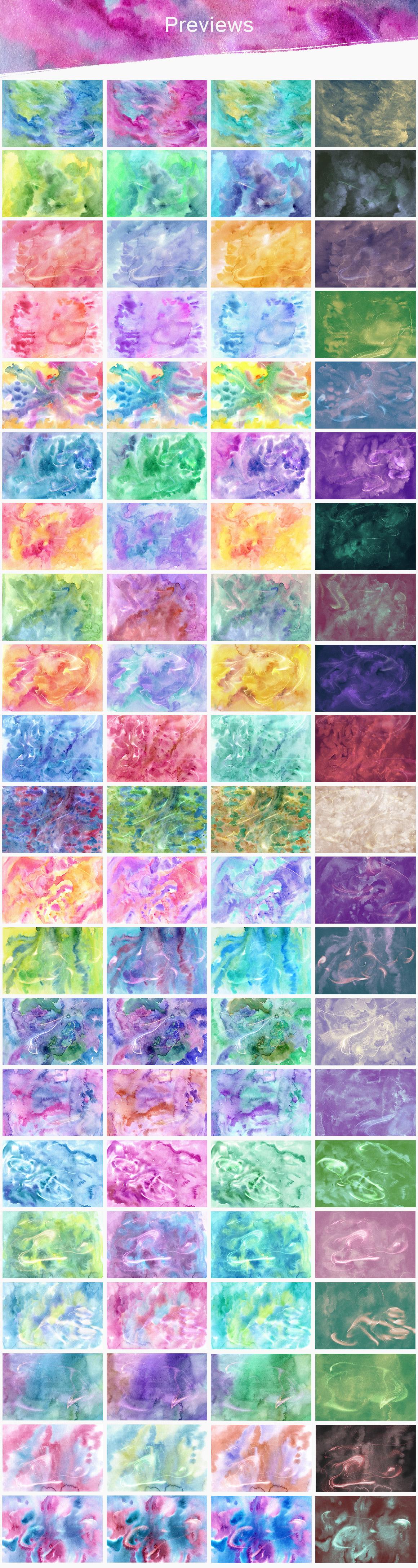 84 Magic Watercolor Textures