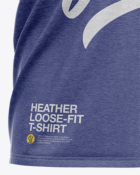 Men's Heather Loose Fit T-Shirt - Front Half-Side View