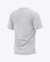 Men's Heather Loose Fit T-Shirt - Back Half-Side View
