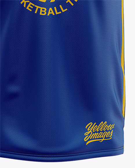 Men's Basketball Jersey Mockup - Front View
