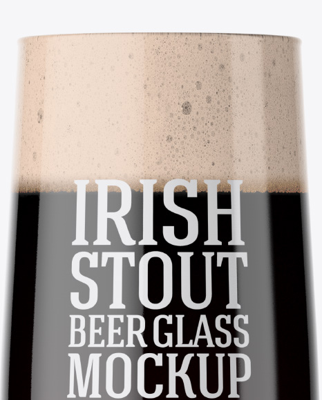 Embassy Glass with Irish Stout Beer Mockup