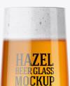Embassy Glass with Hazel Orange Beer Mockup