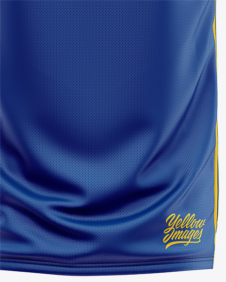 Men's Basketball Jersey Mockup - Back View
