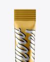 Metallic Stick Sachet Mockup - Front View